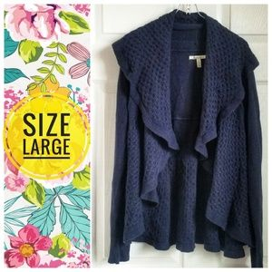 Bass navy blue open front cardigan sweater